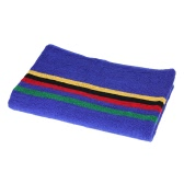 106cm Long Sweat Absorbent Cotton Sports Towel Running Travel Gym Yoga Pilates Exercise Towels--Blue
