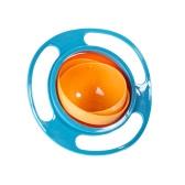 360 stopni Rotate Uniwersalny Gyro Rozlanie-Proof Snack Miska Miseczki Praktyczna konstrukcja Dziecko Niemowlęta Niemowlęta Zabawka Dziecko Obiad Płyta Latający spodek Dziecięcy Żywienie Asystujący Żywność Stołowe