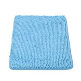 50 * 80cm Rectangular Soft Chenille Bathroom Rug Non-slip Water Absorbent Shaggy Shower Mat Bathmat Bath Toilet Rug Grey
