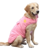 Pet Dog Vest Jacket Coat Reversible Winter Cold Weather Warm Dog Apparel Clothes Sleeveless Clothing