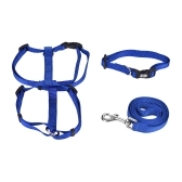 3pcs/Set Dog Collar & Harness & Leash Set Adjustable Collar Harness 1.2m Walking Leash XS/S/M/L Size for Small/Medium/Large Dogs Cats