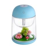 Mini Transparent Micro-Landscape Air Humidifier Spray Очиститель воздуха Aroma Diffuser Красочный ночник для домашнего офиса