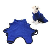 Pet Bath Towel Fast Dry Quickly Absorbing Water Ultra-Soft Microfiber Bath Robe for Dog Cat