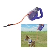 SSL014TF TPU Reflective Dog Leash Lead Rope Retractable Waterproof Dog Walking Leash Automatic Pet Dog Safety Leash Resistant Dirt Easy Clean