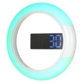 12 Zoll Digital LED Wandspiegel Temperatur Wecker