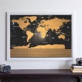 Скретч-карта Интерактивный плакат для отпуска Карты путешествий по миру (82.5X59.4)