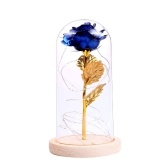 Birthday Gift Beautiful Preserved Rose Flower LED Light