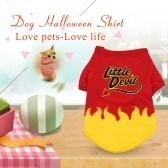 犬ハロウィンシャツペットTシャツリトルデビルペット服ペットハロウィン服ハロウィンコスチューム犬用シャツ