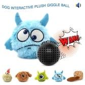 Cão Brinquedo Interativo Plush Giggle Bola Agitação Squeak Crazy Bouncer Bola para Exercício de Entretenimento