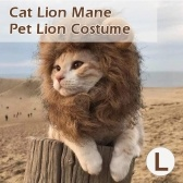 Cat Lion Mane Pet Lion Costume Pet Hair Hair Wig per cani Gatti Animali Halloween Christmas Party Gift