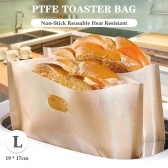 Toaster Bag Non-Stick Reusable Heat Resistant PTFE Toaster Bag for Grilled Cheese Sandwich Bread
