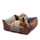 Pet Dog Bed Pet Sofa Dog Sleep Couch Cuddler Square Fodera in cotone caldo invernale Fondo impermeabile Comodo cuccia per cuccioli di gatto