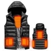USB с подогревом Теплый безопасности Интеллектуальный жилет осень и зима с шляпой мужчины мотоциклетная лыжная куртка