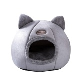 Warm Cat Bed Winter Soft Confortevole nido per animali domestici Coperta semi-chiusa Pet Cat Dog Sleeping Tent House