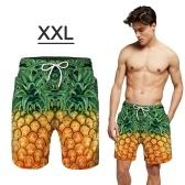 Shorts de baño para hombres Shorts de playa de secado rápido con bolsillos Shorts de natación para hombres, trajes de baño con forro de malla (talla para adultos, XL)
