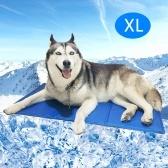 Estera de enfriamiento para perros Gatos Sensación de hielo Estera de enfriamiento automático Manta de enfriamiento portátil para mascotas Mascota para mascotas pequeñas, medianas y grandes al aire libre Interior