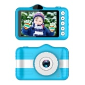 X600 3.5inch Kids Digital Camera Full HD 1080P Mini Children Camera,Cartoon Kids Toy Camera,Built-in 400mAh Battery Support 32GB Memory Card,Front & Rear Dual Cameras,Child Video Camcorder(Blue)