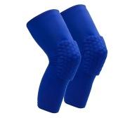 Attelle de genou 2 pièces pour hommes et femmes Support de manchon de compression du genou de protection avec silicone antidérapant pour la course à pied Volleyball Basketball Haltérophilie Entraînement sportif