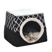 Cama para gatos con autocalentamiento, cama plegable 2 en 1 con cojín para perros