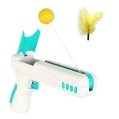 Interactive Cat Toy with Feather Ball Cat Rod Chaser Playing Toys