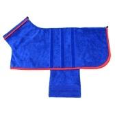 Dog Bathrobe Towel Dog Drying Coat