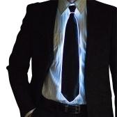 ワイヤータイ点滅LEDネクタイコスチュームネクタイ光るDJバーダンスカーニバルパーティーネクタイクールな小道具
