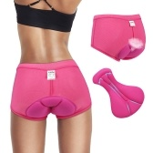 Women Cycling Underwear Pants Gel 3D Padded Bike Bicycle Rosered L