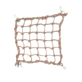 Bird Swing Hammock Climbing Net Toy com ganchos para papagaio Macaw Africano Grays Cockatoo Bird Cage Accessories