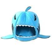 Shark Shape Dual Purpose Soft Cotton Cats Dogs House and Pad
