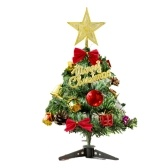 12 Inch Christmas Tree with Hanging Decorations LEDs Fairy Lights