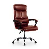 iKayaa Регулируемая эргономичная кожаная отделка для офиса из искусственной кожи 90-170 ° Recliner Luxury High Back Компьютерная стул для руководителей