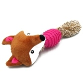 Jouet à mâcher mignon petit animal doux en peluche pour chien