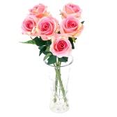 6шт Искусственные Розы Букет Роз с Одиночным Стеблем на Свадьбе для Невесты Украшения д  ля Дома и Гостиницы