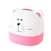 Creative Plastic Paper Towel Box RB271 Polar Bear Tissue Box Desktop Animal Shaped Roll Paper Holder Cover