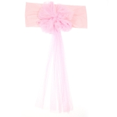 10 sztuk Wedding Flower Chair Sashes Elastan elastan Organza Chair Sash Covers Wedding Banquet Supplies Decorations - White