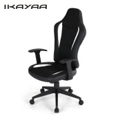 iKayaa PU Leather Racing Style Executive Office Chair Adjustable Bucket Seat High Back Computer Task Desk Chair 360°Swivel W/ Tilt Lock
