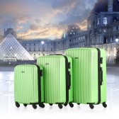 TOMSHOO 3 Piece Luggage Set-Green