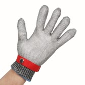 High-quality Protective Safety Cut Stab Resistant 316L Stainless Steel Metal Wire Mesh Glove for Butcher Working Kitchen with A Nylon Glove