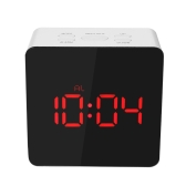 Digital LED Mirror Clock 12H/24H Alarm and Snooze Function °C/°F Indoor Thermometer Adjustable LED Luminance--Green
