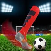 2 pares de calcetines de fútbol de la rodilla de la respiración de los deportes de la respiración de los hombres calcetines de fútbol de la compresión atlética del deporte para los EEUU 7.5-10.5 / UK 6.5-9.5 / UE 40-46 Negro