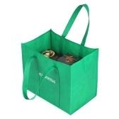 Esonmus 6pcs / set Многоцелевой многоразовый нетканый большой батончик для покупок с сумками Складные сумки для покупок Сумки для хранения с двойными усиленными ручками - черный