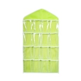 16 Grid Wardrobe Hanging Organizer Underwear Bras Socks Ties Door Storage Bag