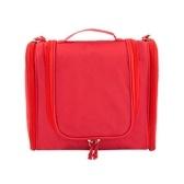 Портативная сумка для органайзера для туалетных принадлежностей Складная большая емкость Косметический макияж Кейс для путешествий Аксессуары для ванной комнаты Красный