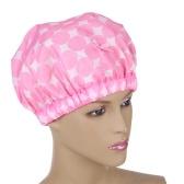 1 Pcs Super Mignon Épaissi Réutilisable Élastique Double Couche Chapeau De Douche Chapeau de Cheveux pour les Femmes et les Filles Rose