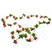 Roses artificielles de vigne de fleur de simulation de 2m