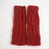 Calentador de brazo unisex de moda de invierno Guantes largos de punto sin dedos Mitones lindos