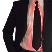 Laço de fio Gravata Cosplay LED Tie Gravata Traje