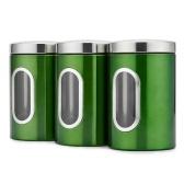 Sistema del almacenamiento de la comida del envase de almacenamiento de la comida 3pcs / set