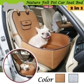 Dog Front and Back Seat Cover Protector Convertible Pet Bed Pad Felt Cloth Waterproof Protecting Dogs Cats for Cars SUVs