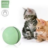 Balle électrique interactive pour chat jouet boule de roulement pour chaton chats exercice chasse LED lumière USB direction rechargeable automatiquement